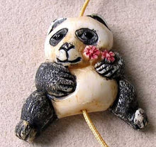Load image into Gallery viewer, Adorable Hand Carved Panda Centerpiece Bead 10575C - PremiumBead