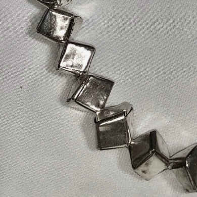 Remarkable 1 Thai Hill Tribe 'Origami' Fine Silver Cube Bead 005444 - PremiumBead