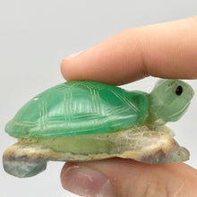 Load image into Gallery viewer, Natural Fluorine Turtle Figurine | 2 1/8x1 3/8x3/4"
