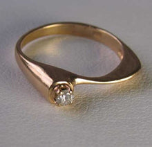 Load image into Gallery viewer, Natural Diamond Solid 14K Yellow Gold Pinky Ring Size 4 1/2 9982Am - PremiumBead