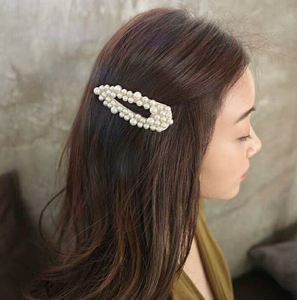 2019 Korea Women Pearl Flower Hairpins Vintage Long Barrettes Hair Clips Crystal Metal Hair Accessories Hairgrip hairgrips
