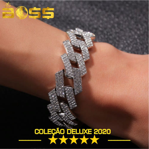 Pulseira 20mm Bling King Miami.