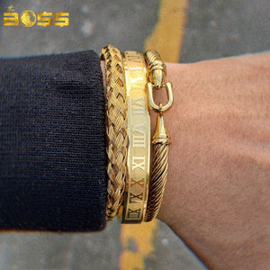 Kit - 3 Braceletes | Luxury 16k.