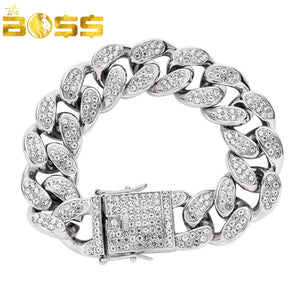 Pulseira CUBAN PRONG 22MM