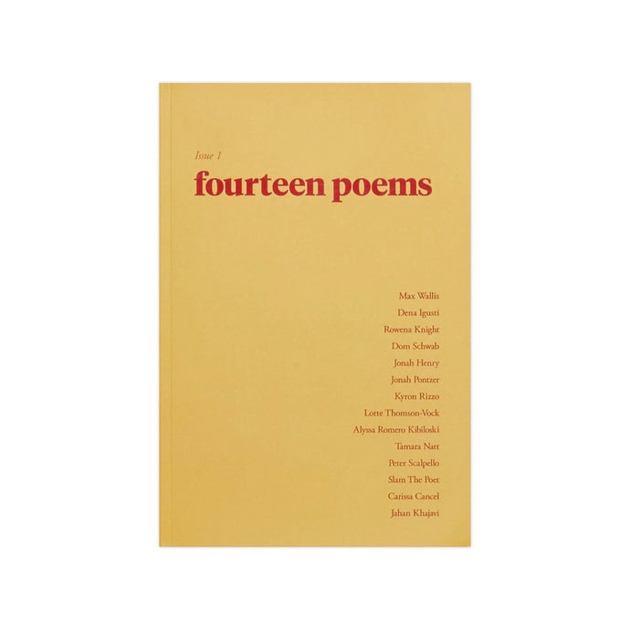FOURTEEN POEMS, Issue One
