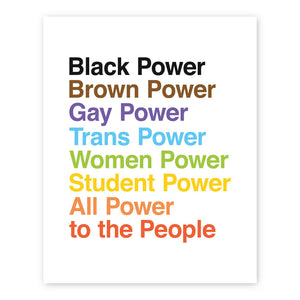 Protest Print: All Power To The People