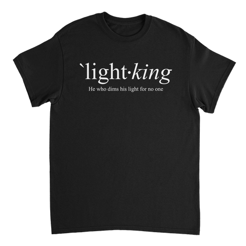 LIGHT KING // Define - Black Tee