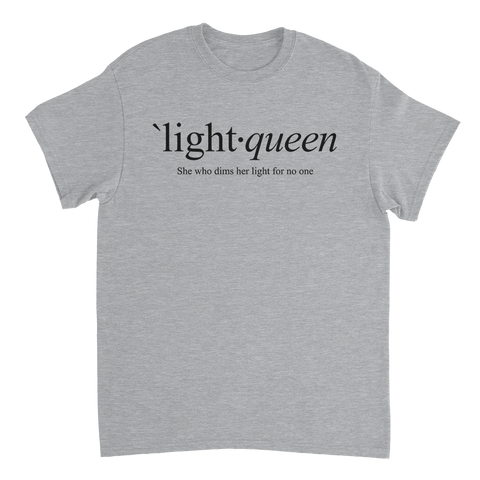 LIGHT QUEEN // Define - Heather Grey Tee