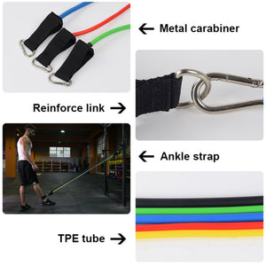 Fitness Stretch Tension Rope And Resistance Band Set - Mate Stores AU