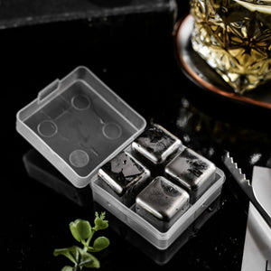 Drinks Ice Cube Beer Wine Whisky Stone Cooler 304  Stainless Steel Reusable - Mate Stores AU