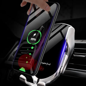 Qi Car Wireless Charging Bracket Mobile Phone Holder Automatic Induction - Mate Stores AU