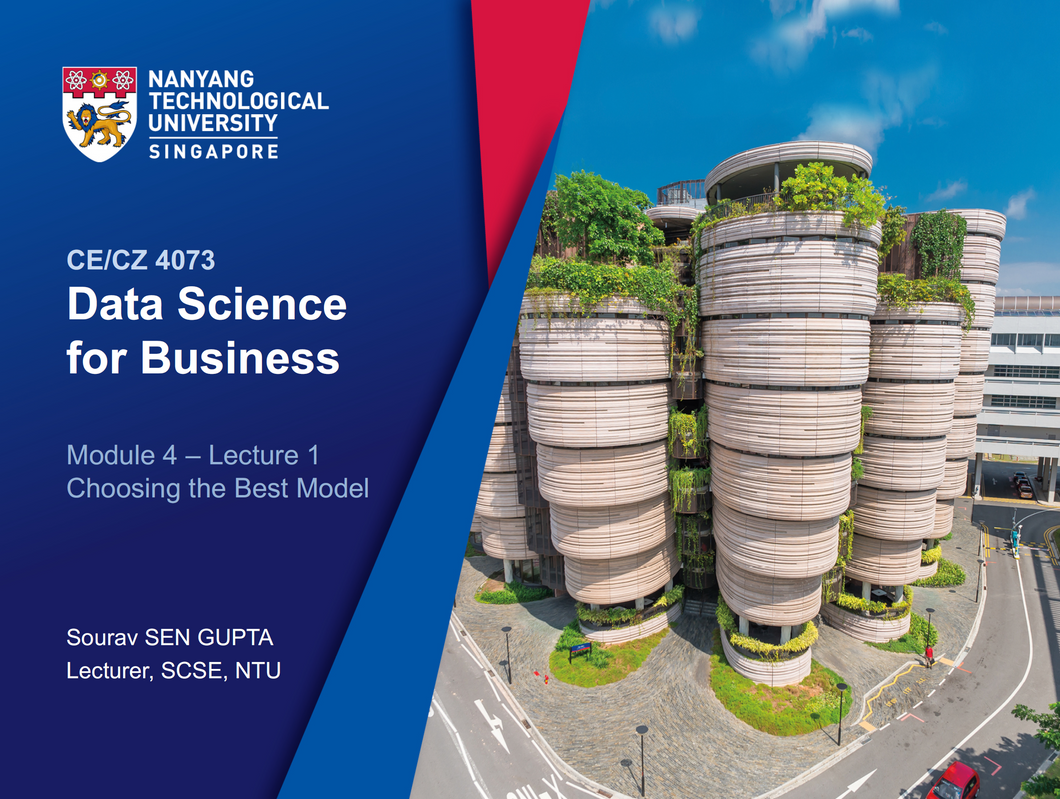 Data Science For Business NTU CS (COMPLETE)  notes  2019 CZ4073