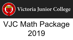 VJC Math Package 2019 (Bundle)