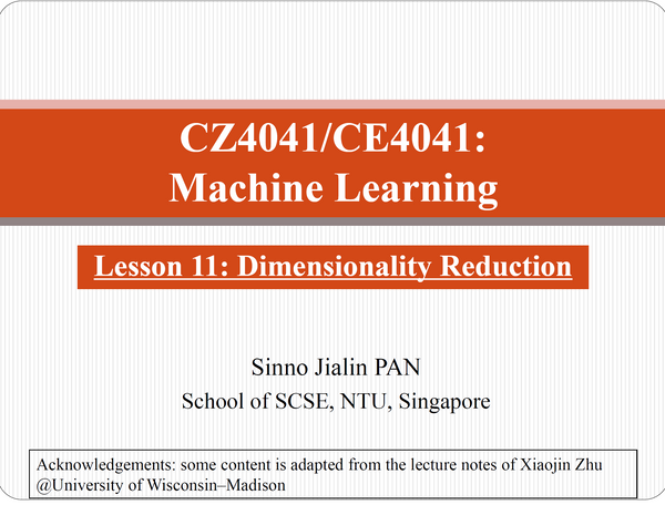 Machine Learning NTU CS(COMPLETE) notes 2019 CZ4041