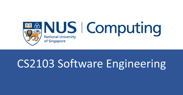 NUS CS notes(self-made) : CS2103 Software Engineering
