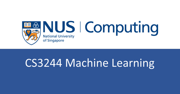 NUS CS notes(self-made) : CS3244 Machine Learning