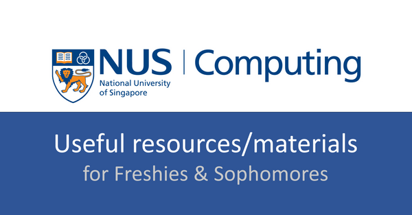 NUS CS personal repository of CS books/resources  (for Freshies & Sophomores ) **click in**