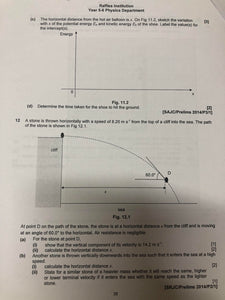 RJC H2 Physics Practice Package 1 & 2 (2019)