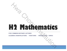 Load image into Gallery viewer, HCI H2 Math Package (2019-2020)(Teacher's version, Original)(Damn Solid)(Highly recommended)