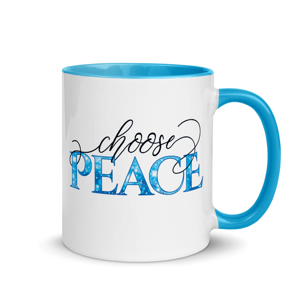 Choose Peace Color Mug