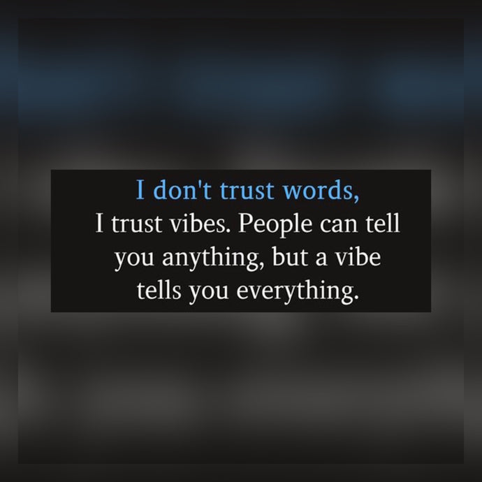 Don't Trust Words ⚡️