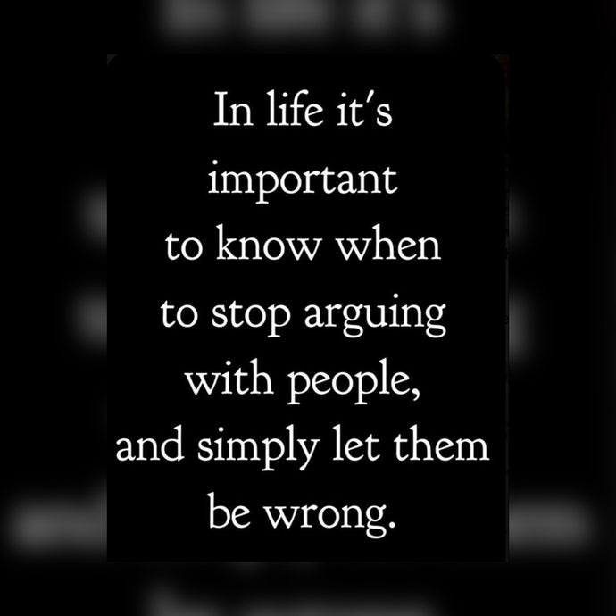Stop Arguing ⚡️