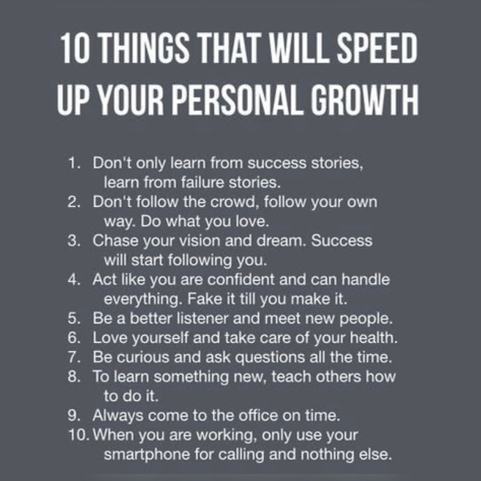 Speed Personal Growth ⚡️