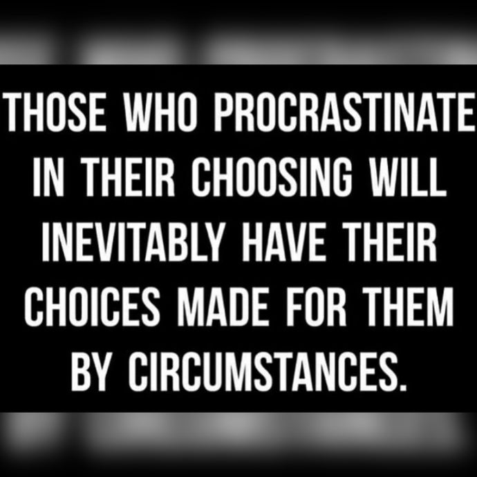 Those Who Procrastinate ⚡️