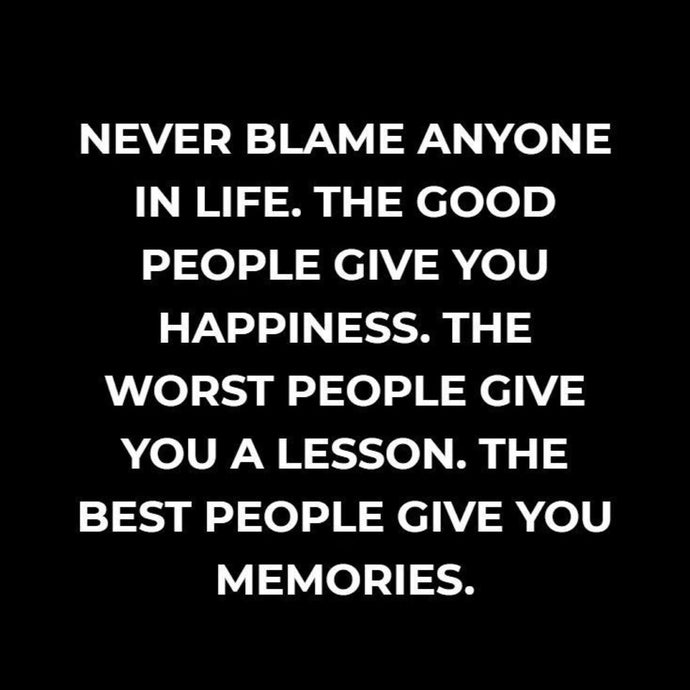 Never Blame ⚡️