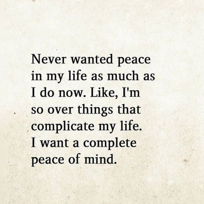Peace In My Life ⚡️