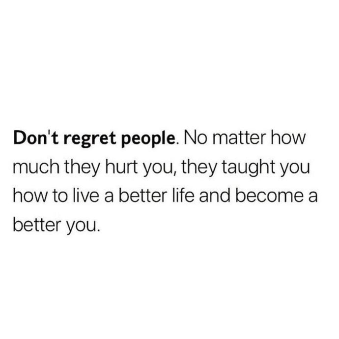 Don't Regret People ⚡️
