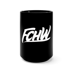 FCHW Black Mug 15oz (White Original Font)