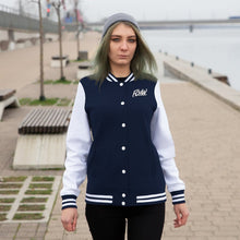 Load image into Gallery viewer, FCHW Women's Navy Blue Varsity Jacket