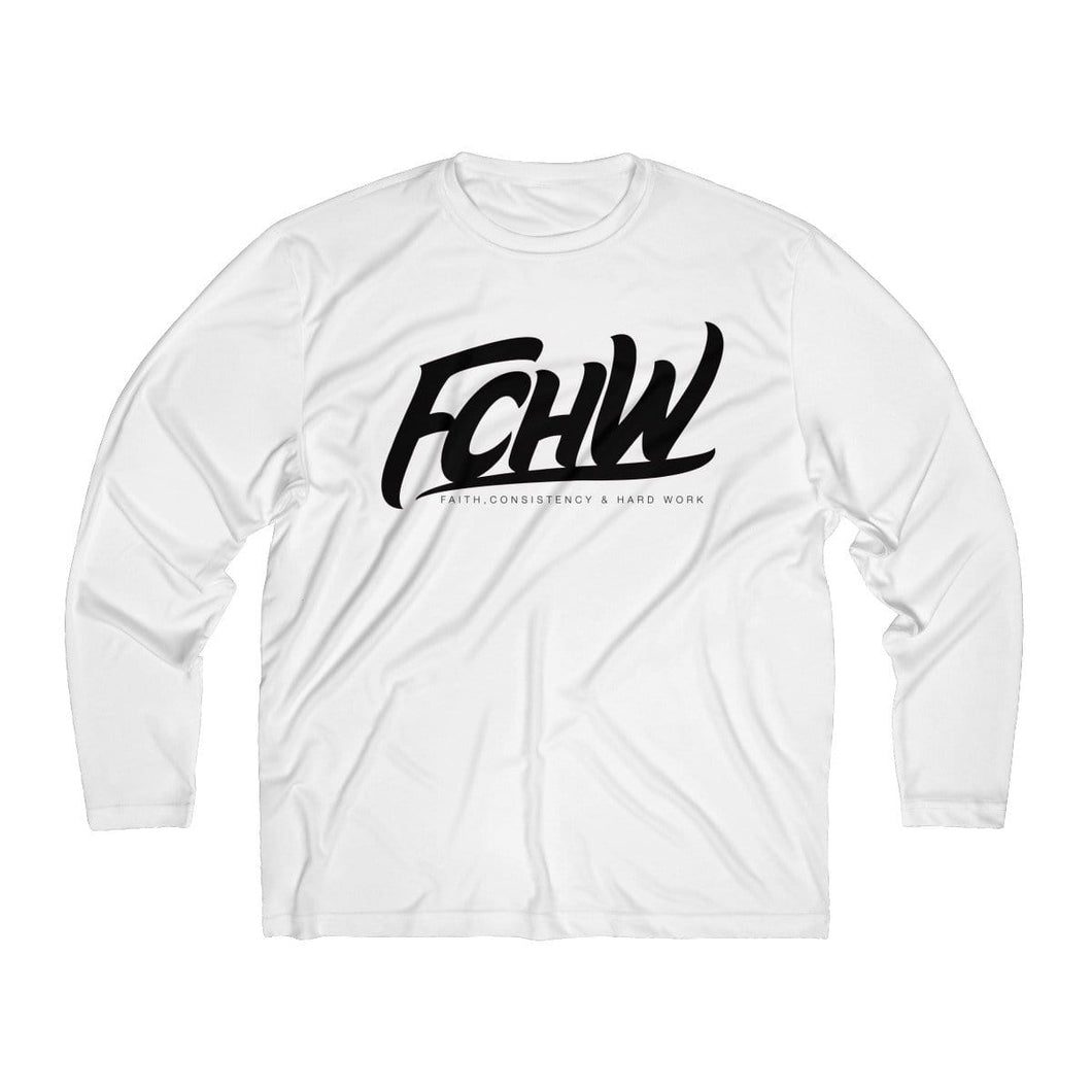 FCHW Men's Long Sleeve Moisture Absorbing Tee (Black Original Font)