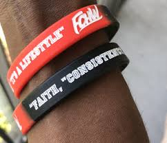 "2 ""Faith, Consistency, & Hard Work"" Wristbands"