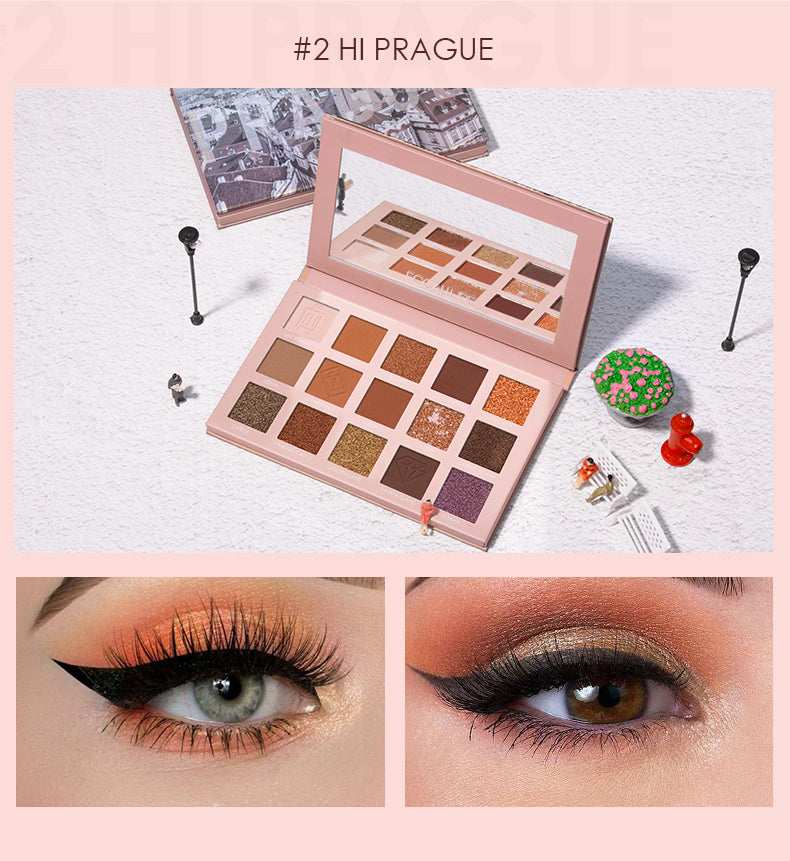FOCALLURE Go Travel - PRAGUE Eye shadow palette