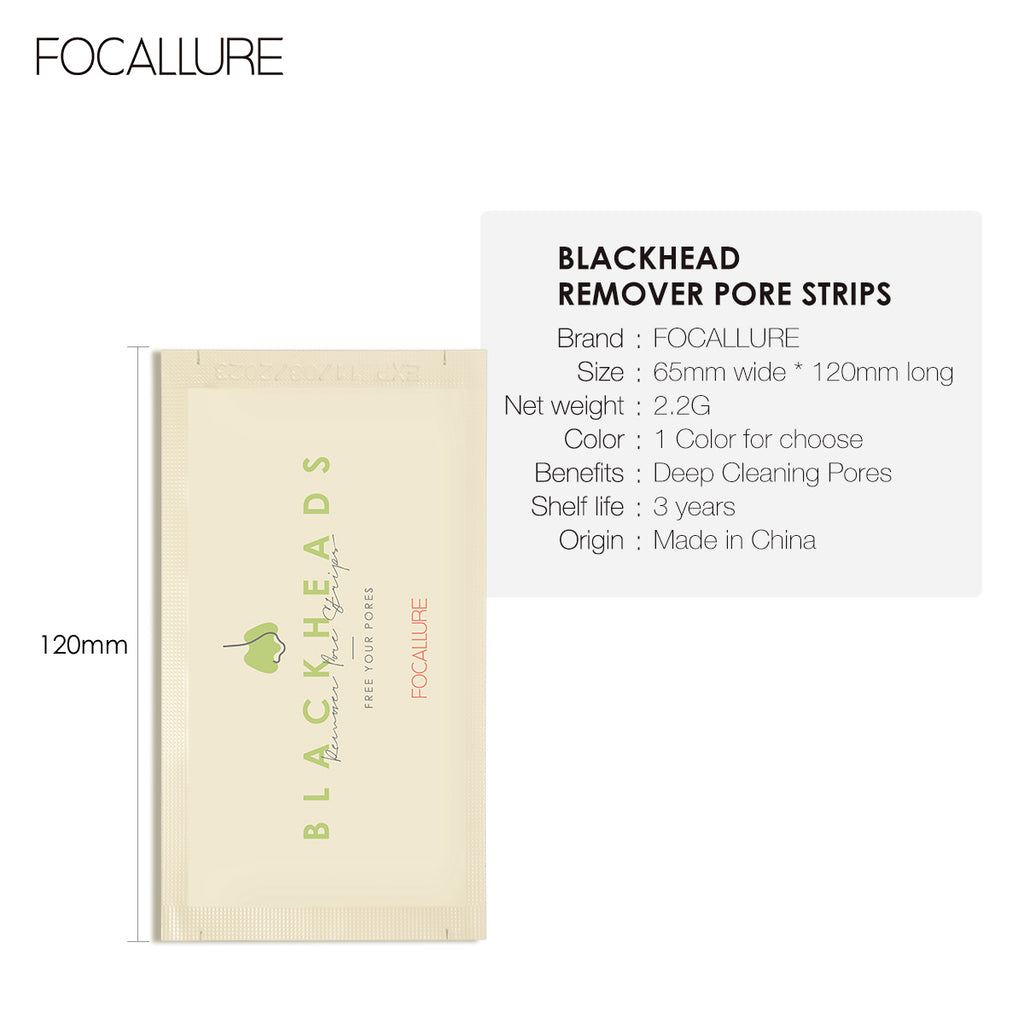 FOCALLURE Dry Nose Pore Cleaner  Strips 3 Pcs