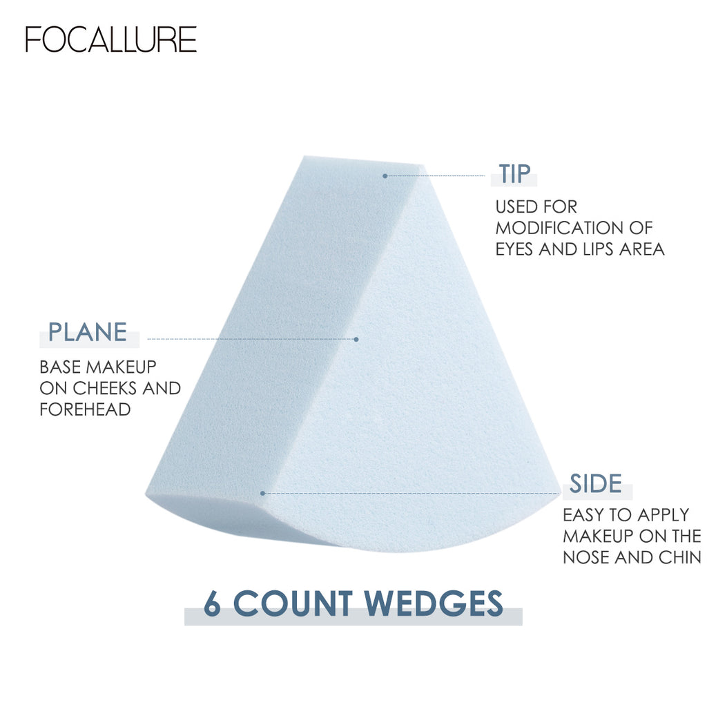 Focallure 6 Count Wedges