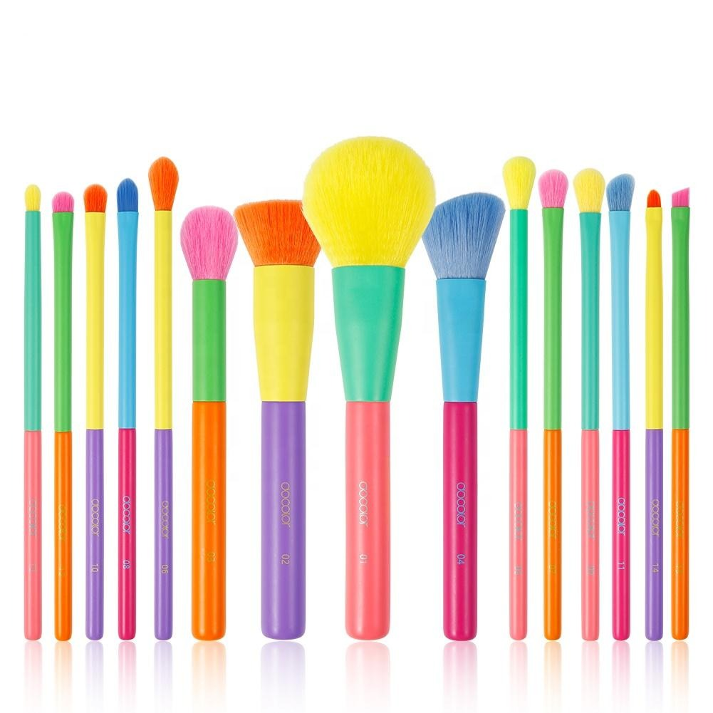 Docolor 15pcs Pop Color Makeup Brushes