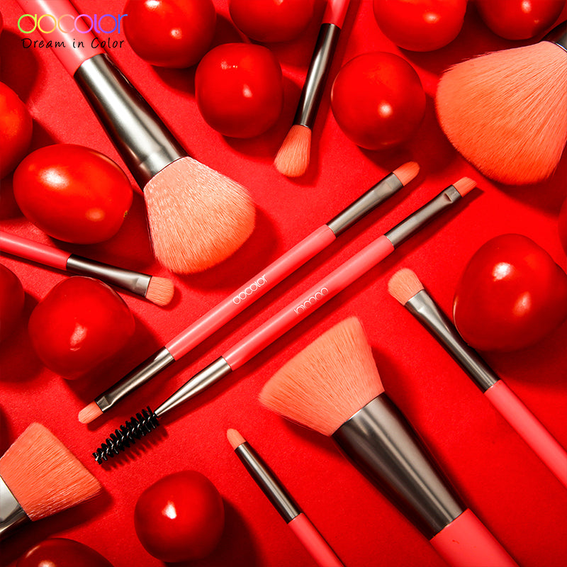 Docolor Neon Makeup Brushes 10 Pcs