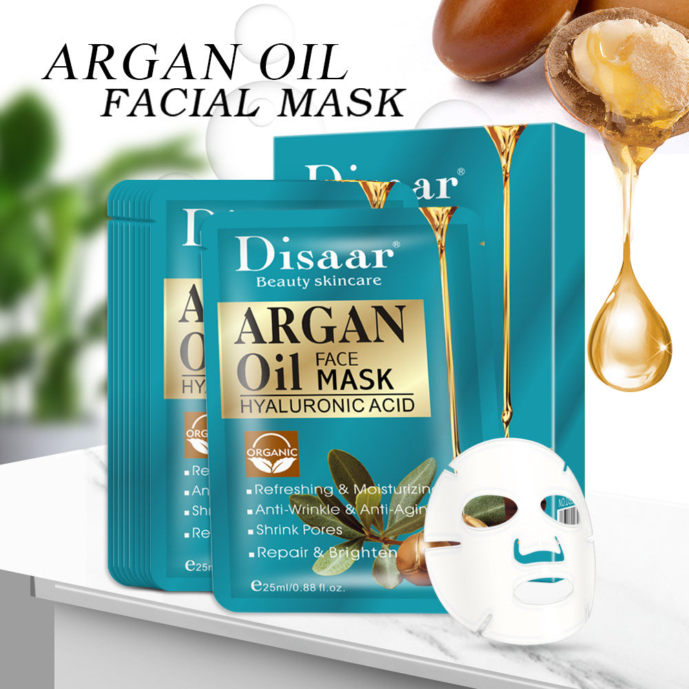 Argan Oil Facial Mask 1 Pcs - Hyaluronic Acid