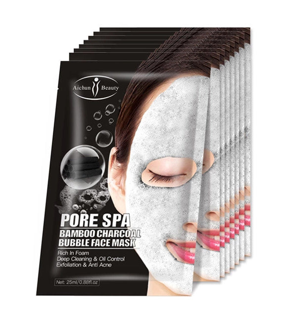 Bamboo Charcoal 8 Pcs Box Bubble Face Mask