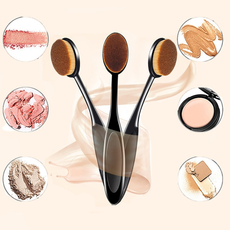 Oval Shape Conceler Foundation Makeup Brush