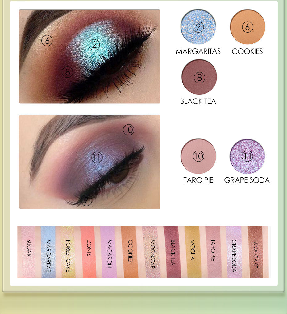 Focallure  Mysterious Time Eye shadow Palette 12Colors