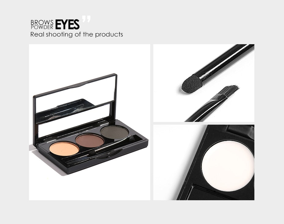 Focallure 3 Color Eyebrow Palette Setting Wax Powder