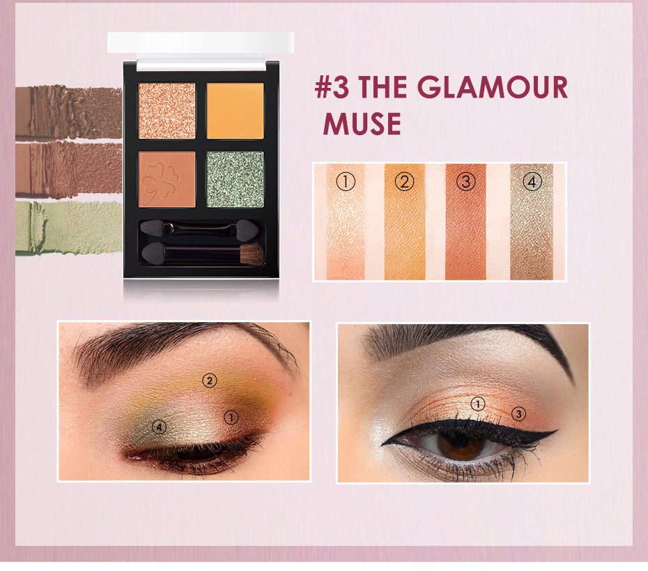 Focallure Glam Eyes 4 Color Eye shadow Palette