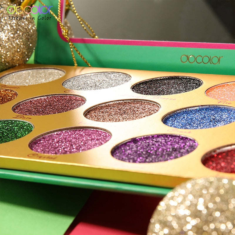 Docolor HEAT Glitter Eyeshadow Palette 15 Colors