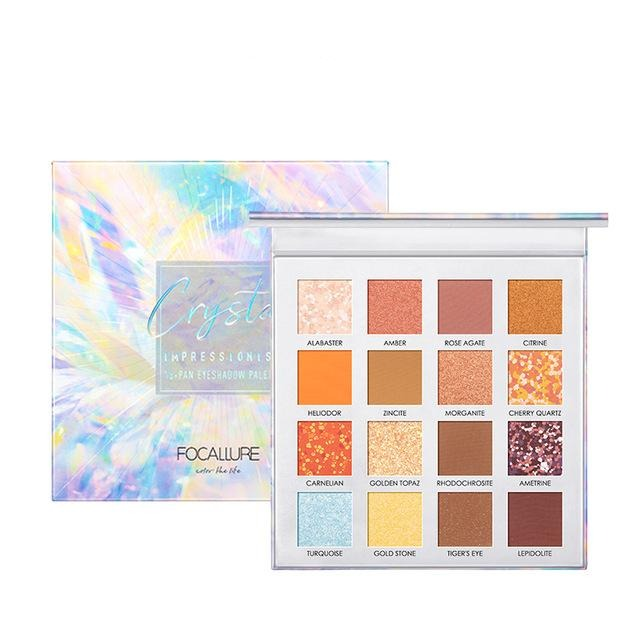 Focallure 16 Color Crystal Eye shadow Glitter Pallete
