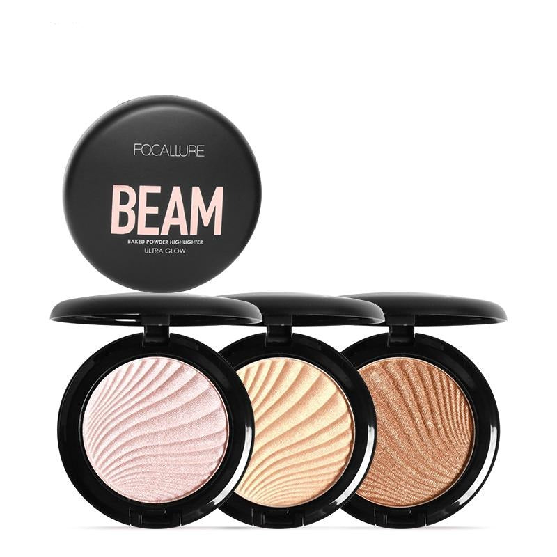 Focallure New 4 Color Beam Ultra Glow Highlighter Palette