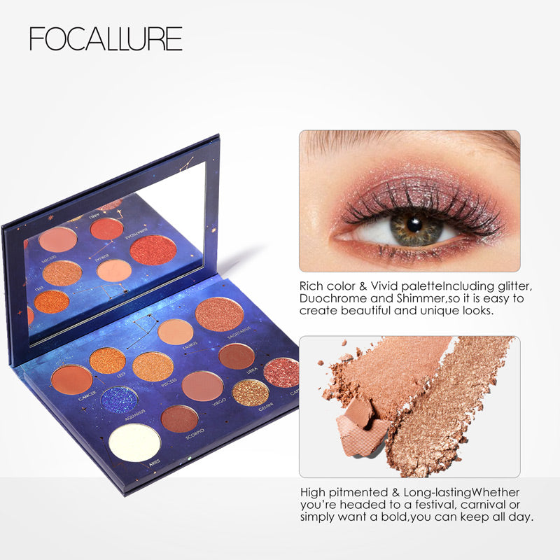 FOCALLURE Constellation Palette 12Colors Eye Shadow Palette